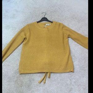 Fashion Nova Lace Up Sweater